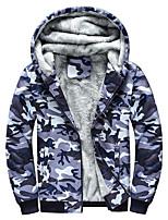 cheap -leiqiao(tm) mens camouflage hoodie winter warm fleece zipper sweater jacket outwear coat (l, multicolor)