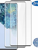 cheap -2-pack galaxy s20 plus tempered glass screen protector, 9h hardness/anti-fingerprint/ultra-clear/bubble free 3d curved tempered glass film for samsung galaxy s20 plus/s20+