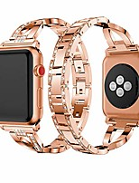 cheap -metal cuff bangle bracelet bling rhinestone diamond wristband x-link glitzy strap band for apple watch band 38mm 40mm women iwatch series 6 series 5 4 3 2 1 se (38mm/40mm rose gold)
