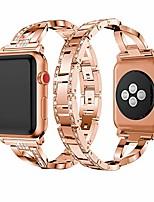 cheap -metal cuff bangle bracelet bling rhinestone diamond wristband x-link glitzy strap band for apple watch band 38mm 40mm women iwatch series 6 series 5 4 3 2 1 se (38mm/40mm rose gold)