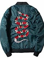 cheap -men's classic snake-embroidery lightweight flight baseball jacket windbreaker (x-large, green)