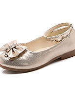 cheap -girls bowknot mary jane shoes slip on ballet flat shoes with ankle strap (toddler/little kid) golden