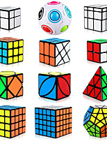 cheap -Speed Cube Set 12 pcs Magic Cube IQ Cube 2*2*2 3*3*3 4*4*4 Speedcubing Bundle Stress Reliever Puzzle Cube Smooth Office Desk Toys Brain Teaser Pyramid Mirror Rainbow Ball Kid's Adults Toy Gift