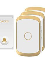 cheap -CACAZI Waterproof Wireless Doorbell Self-powered No battery LED Light Home cordless doorbell  1 Button 3 Receiver