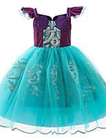 cheap -Princess Cosplay Costume Costume Girls' Movie Cosplay Euramerican Purple Dress Christmas Halloween Carnival Polyester / Cotton Polyester