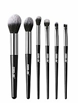 cheap -makeup brushes tools eye make up brush kit 6pcs eye shadows eyeliner eyebrow brush set (black)
