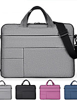 cheap -13.3 Inch Laptop / 14 Inch Laptop / 15.6 Inch Laptop Sleeve / Briefcase Handbags / Tablet Cases Polyester Solid Colored / Textured for Men for Women for Business Office Waterpoof Shock Proof