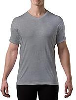 cheap -sweatproof undershirt for men with underarm sweat pads (original fit, v-neck) heather grey