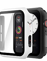 cheap -(2 pack) case compatible with apple watch se series 6 series 5 series 4 40mm, built-in hd tempered glass screen protector overall cover replacement for iwatch series 6/5/4/se, black/white