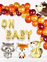 cheap -baby shower balloon garland – woodland creatures balloon, hedgehog, squirrel, fox, raccoon, latex balloons for baby shower decorations ,woodland party supplies,boys/girls birthday decorations