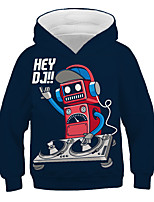 cheap -Kids Toddler Boys' Active Streetwear Graphic Letter Print Long Sleeve Hoodie & Sweatshirt Navy Blue