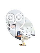 cheap -Animal Owl Wall Stickers Mirror Wall Stickers Decorative Wall Stickers, Acrylic Home Decoration Wall Decal Wall Decoration 1pc