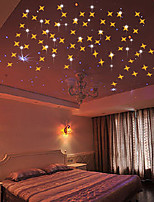 cheap -Stars Wall Stickers Mirror Wall Stickers Decorative Wall Stickers, Acrylic Home Decoration Wall Decal Wall Decoration 50pcs