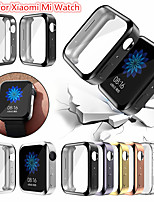 cheap -Screen Protector Case for Xiaomi mi Watch TPU Rugged Bumper Case Cover All-Around Protective Plated Bumper Shell Accessories Scratch-Proof Compatible