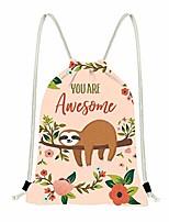 cheap -sloth gympack string sack drawstring backpack beach shopping hiking swimming gym sack bag sport bag