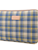 cheap -11.6 Inch Laptop / 12 Inch Laptop / 13.3 Inch Laptop Sleeve / Tablet Cases Canvas Grid / Plaid Patterns / Checkered / Gingham for Men for Women for Business Office Waterpoof Shock Proof