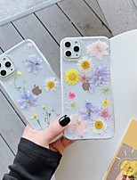 cheap -Case For Apple iPhone 12 / iPhone 12 Mini / iPhone 12 Pro Max Pattern / Glitter Shine Back Cover Flower TPU