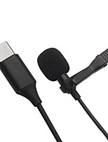 cheap -BassPal Professional Lavalier Lapel Microphone Omnidirectional Mic 360 Easy Clip On only for USB Type-C Interface Device