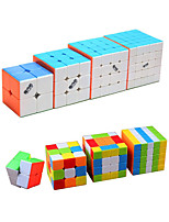 cheap -Speed Cube Set 4 pcs Magic Cube IQ Cube QIYI 3*3*3 4*4*4 5*5*5 Speedcubing Bundle 3D Puzzle Cube Stress Reliever Puzzle Cube Stickerless Smooth Office Desk Toys Kid's Adults Toy Gift