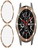 cheap -jewelry bezel compatible for samsung galaxy watch 46mm bezel,gear s3 frontier classic,2pack crystal bling diamond women watch cover protector(46mm,rose gold)