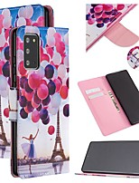 cheap -Case For Samsung Galaxy A21S Wallet Card Holder with Stand Full Body Cases Eiffel Tower PU Leather Galaxy Note 20 Ultra S20 Plus S10E S8 S9 A01 A11 A21 A31 A41 Note 10