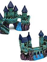 cheap -Vintage Aquariums Cartoon Castle Decorations Resin Castle Tower Ornaments Fish Tank Accessories Home Decoration Supplies
