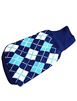 cheap -clothes the diamond plaid cat dog sweater,dog accessories,dog apparel,pet sweatshirt(c,xs)