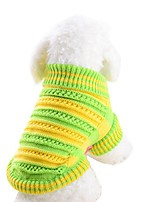 cheap -alalaso pet apparel,pet dog openwork sweater dog clothes for small dogs winter sweaters (green, m)