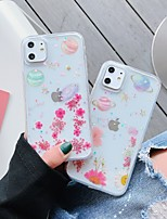 cheap -Case For Apple iPhone 11 / iPhone 11 Pro / iPhone 11 Pro Max Pattern / Glitter Shine Back Cover sky / Flower TPU