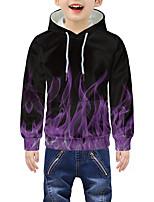 cheap -Kids Boys' Active 3D Graphic Print Long Sleeve Hoodie & Sweatshirt Purple