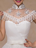 cheap -Sleeveless Shawls Lace Wedding Women's Wrap With Lace