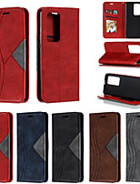 cheap -Case For Huawei Mate 30 Pro / HUAWEI P40 PRO Wallet / Shockproof / Flip Full Body Cases Solid Colored PU Leather