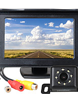 cheap -ZIQIAO 4.3 Inch TFT LCD Screen Car Monitor Auxiliary Parking  8 LED Light Night Vision Rear View Camera