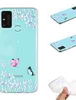 cheap -Case For Huawei P Smart 2020 Transparent Pattern Back Cover Butterfly TPU Soft Huawei P40 Pro P30 Lite Y5P Y6P Y7 Y9 2019 Nova 6se Honor 9X 10 Lite 9A 30S