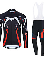 cheap -WECYCLE Men's Women's Long Sleeve Cycling Jersey Cycling Tights Winter Black Red Black / White Bike Breathable Quick Dry Sports Graphic Mountain Bike MTB Road Bike Cycling Clothing Apparel / Stretchy