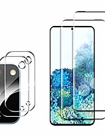 cheap -galaxy s20 screen protector include 2 pack tempered glass screen protector + 2 pack tempered glass camera lens protector,anti-scratch,nano full coverage,hd transparent for galaxy s20 [4 pack]