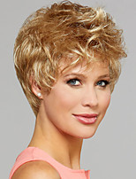 cheap -Synthetic Wig Curly Asymmetrical Wig Short Blonde Synthetic Hair Women's Fashionable Design Exquisite Fluffy Blonde