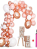 cheap -diy balloon garland kit balloon arch kit - baby shower/birthday party/graduation/bachelorette decorations - rose gold/peach confetti balloons birthday backdrop decor - balloon pump included