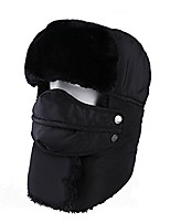 cheap -winter windproof warm camouflage mask ear flaps outdoor sports walking skiing hunting hat black