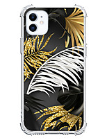cheap -Feathers Case For Apple iPhone 12 iPhone 11 iPhone 12 Pro Max Unique Design Protective Case Shockproof Back Cover TPU