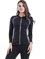 cheap -women cami hot body shaper long shirt sweat sauna suit waist trainer slimming shapewear tummy control trimmer fat burner for weight loss with zipper workout gym exercise sport