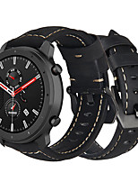 cheap -Leather Watch Band for Huami Amazfit Stratos 3 / GTR 47mm / GTR 42mm / Stratos 2 2S / Bip Lite / Bip S / Xiaomi Watch Color / Xiaomi Heylou Solar LS05 Replaceable Bracelet Wrist Strap Wristband