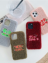cheap -Case For iPhone 11  Shockproof Back Cartoon Colored / Plush TPU / Cotton Fabric  For iPhone 11 Pro Max/X/XS/XR/XS Max/6 6S 7 8  Plus/SE 2020