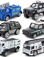 cheap -diecast police cars metal playset vehicle models collection police patrol swat truck toy for kids pack of 6pcs