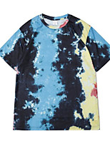 cheap -Men's Tie Dye Graphic T-shirt Short Sleeve Daily Tops Vintage Round Neck Blue