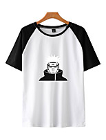 cheap -Inspired by Naruto Cosplay Akatsuki Pain T-shirt Polyester / Cotton Blend Print Printing T-shirt For Men's / Women's