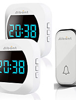 cheap -T195195-BB Wireless Doorbell Smart Household DoorBell With Time Display Volume Adjustable Mutil Use for Home Apartment Office Self-powered No Battery Required Doorbell
