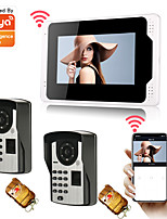 cheap -7 WiFi/Wired Tuya APP Monitor Video Door Phone System 1080P Camera with Fingerprint Password Multi-languages Remote Phone Control Motion Recording