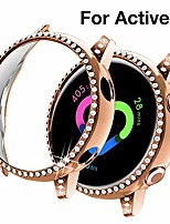cheap -compatible with samsung galaxy watch active 1 case 40mm, not for active 2. pc protective cover women girl bling crystal diamonds shiny rhinestone bumper watch cases (rose gold)