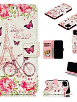 cheap -Case For Apple iPhone 12 Pro Max  Wallet Card Holder with Stand Full Body Cases Eiffel Tower PU Leather iPhone 12 Mini SE 2020 11 Pro XR XS Max X 7 8 Plus